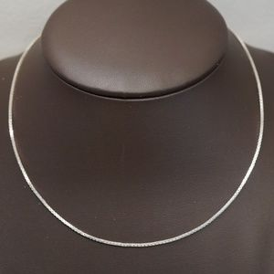 """Sterling Silver (.925) 16"""" Solid Box Chain"""